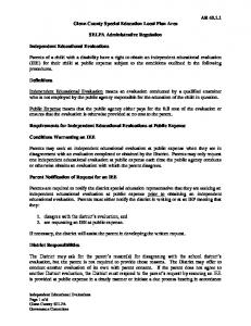 Glenn County Special Education Local Plan Area. SELPA Administrative Regulation