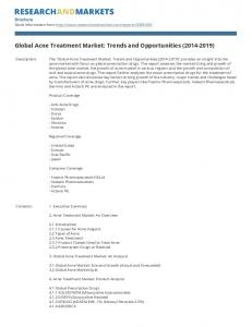 Global Acne Treatment Market: Trends and Opportunities ( )