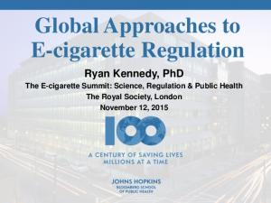 Global Approaches to E-cigarette Regulation