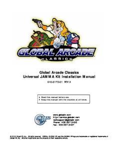 Global Arcade Classics Universal JAMMA Kit Installation Manual