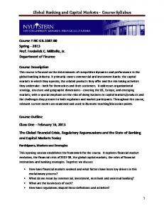 Global Banking and Capital Markets Course Syllabus