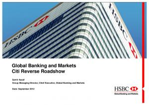 Global Banking and Markets Citi Reverse Roadshow