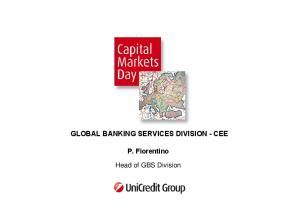 GLOBAL BANKING SERVICES DIVISION - CEE