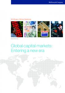 Global capital markets: Entering a new era