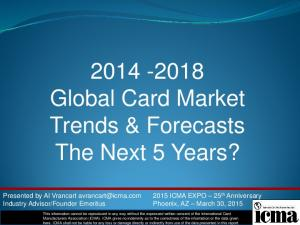Global Card Market Trends & Forecasts The Next 5 Years?