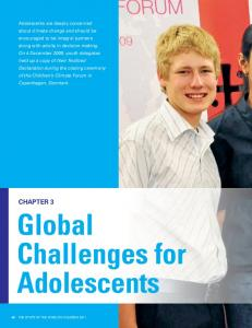 Global Challenges for Adolescents