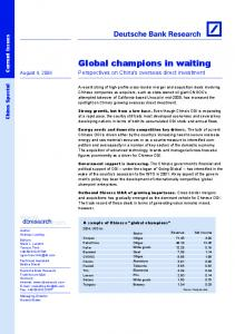 Global champions in waiting