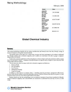 Global Chemical Industry