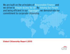 Global Citizenship Report 2010