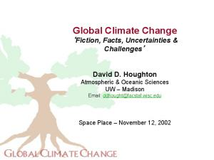 Global Climate Change Fiction, Facts, Uncertainties & Challenges