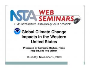 Global Climate Change Impacts in the Western United States