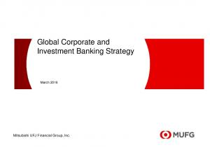 Global Corporate and Investment Banking Strategy