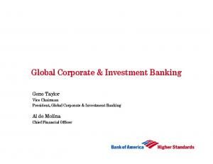 Global Corporate & Investment Banking