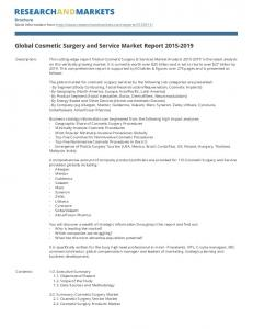 Global Cosmetic Surgery and Service Market Report