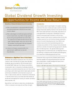 Global Dividend Growth Investing