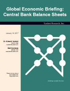 Global Economic Briefing: Central Bank Balance Sheets