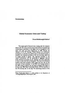 Global Economic Crisis and Turkey
