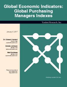 Global Economic Indicators: Global Purchasing Managers Indexes