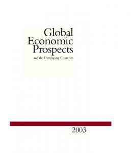 Global Economic Prospects. and the Developing Countries