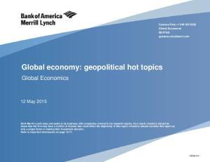 Global economy: geopolitical hot topics
