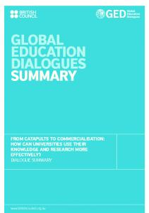 GLOBAL EDUCATION DIALOGUES SUMMARY