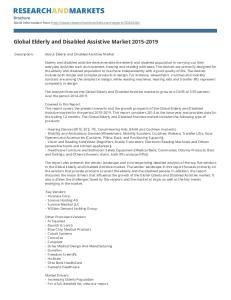 Global Elderly and Disabled Assistive Market