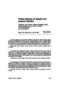 Global epidemy of obesity and present nutrition