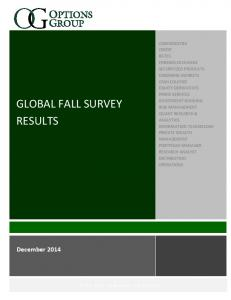 GLOBAL FALL SURVEY RESULTS