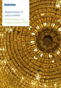 Global Fashion & Luxury market Private Equity and investors survey 2016