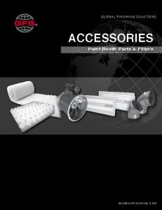 GLOBAL FINISHING SOLUTIONS GLOBAL FINISHING SOLUTIONS ACCESSORIES. Paint Booth Parts & Filters