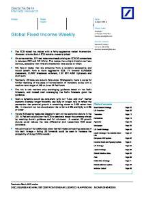 Global Fixed Income Weekly