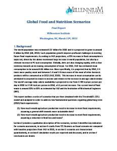 Global Food and Nutrition Scenarios