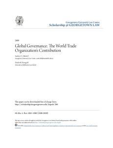 Global Governance: The World Trade Organization's Contribution