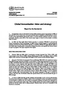 Global immunization vision and strategy