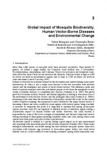 Global Impact of Mosquito Biodiversity, Human Vector-Borne Diseases and Environmental Change