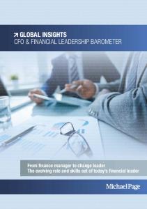 GLOBAL INSIGHTS CFO & FINANCIAL LEADERSHIP BAROMETER