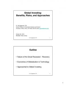 Global Investing: Benefits, Risks, and Approaches. Outline