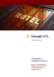 Global leader in hospitality consulting