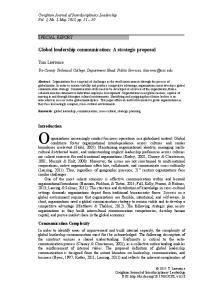 Global leadership communication: A strategic proposal