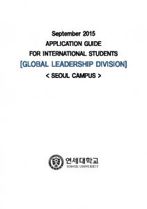 [GLOBAL LEADERSHIP DIVISION]