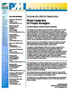 Global Leadership for Project Managers