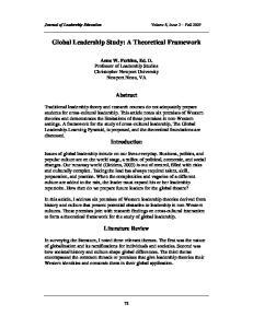 Global Leadership Study: A Theoretical Framework