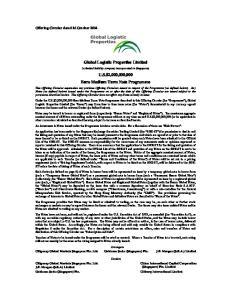 Global Logistic Properties Limited. U.S.$2,000,000,000 Euro Medium Term Note Programme