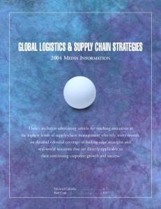 GLOBAL LOGISTICS & SUPPLY CHAIN STRATEGIES
