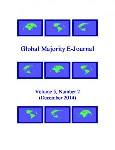 Global Majority E-Journal. Volume 5, Number 2 (December 2014)