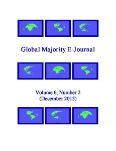 Global Majority E-Journal. Volume 6, Number 2 (December 2015)