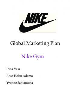 Global Marketing Plan