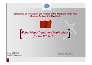 Global Mega-Trends and Implications for the ICT Sector