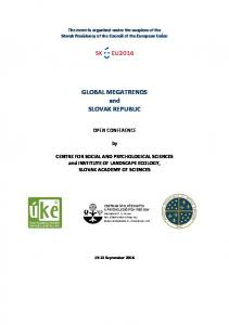 GLOBAL MEGATRENDS and SLOVAK REPUBLIC