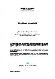 Global Opportunities HAIG